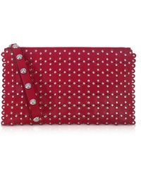 RED Valentino   Flower Puzzle Leather Clutch   Lyst