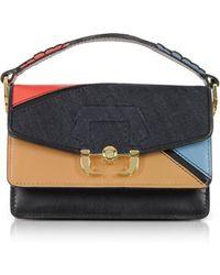 Paula Cademartori - Grenadine Red Leather And Denim Twi Twi Boho Crossbody Bag - Lyst