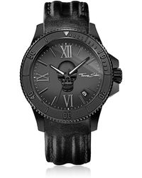 Thomas Sabo - Rebel Icon Black Stainless Steel Men's Watch W/leather Strap - Lyst