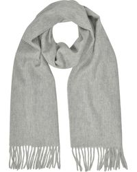 Mila Schon - Cashmere And Wool Sand Fringed Long Scarf - Lyst