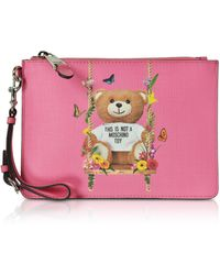 Moschino - Teddy Bear Eco Leather Clutch - Lyst
