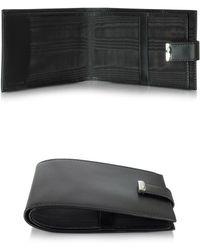 Pineider - 1949 Black Leather Men's Chequebook Holder - Lyst