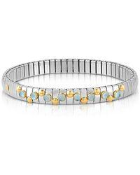 Nomination - Stainless Steel Women's Bracelet W/light Blue Topaz Beads - Lyst