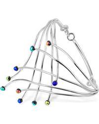 FORZIERI - Fireworks Glass Stones Sterling Silver Cuff Bracelet - Lyst