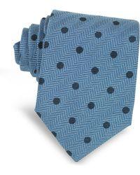 FORZIERI - Dots Woven Silk Narrow Tie - Lyst