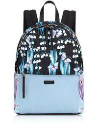 Furla - Women's Light Blue/black Leather Backpack - Lyst