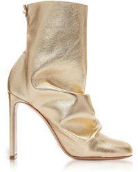 Nicholas Kirkwood - Light Gold Metallic Nappa 105mm D'Arcy Ankle Boots - Lyst