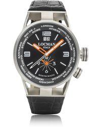 LOCMAN - Montecristo Stainless Steel & Titanium Dual Men's Watch W/leather Strap - Lyst
