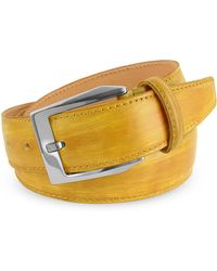 Pakerson - Men's Yellow Hand Painted Italian Leather Belt - Lyst