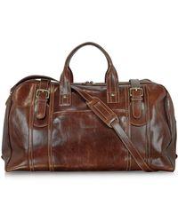 a0271e0892 Maxwell Scott Bags Luxury Italian Leather Men s Duffle Bag Dino M ...