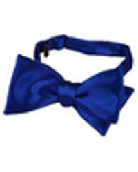 FORZIERI - Blue Solid Silk Self-tie Bowtie - Lyst