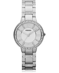 Fossil - Virginia Stainless Steel Women's Watch - Lyst