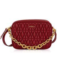 Furla - Quilted Leather Cometa Mini Crossbody Bag - Lyst