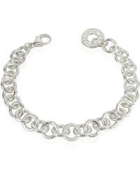 Torrini - Coin 1369 - Sterling Silver Rolo Chain Charm Bracelet - Lyst