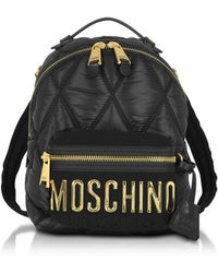 Moschino - Mini Quilted Backpack Black - Lyst
