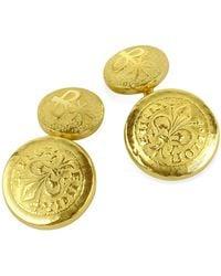 Torrini - Fiorino - Fleur-de-lis 18k Yellow Gold Cufflinks - Lyst