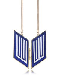 Avril8790 - Rigore Easy Light Gold-plated Brass And Viscose Necklace - Lyst