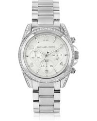 Michael Kors | Silver Runway Watch With Glitz | Lyst