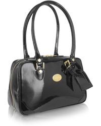 L.A.P.A. | Black Italian Patent Leather Shoulder Bag | Lyst