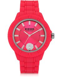 Versus - Tokyo Silicon And Silver Tone Stainless Steel Unisex Watch - Lyst