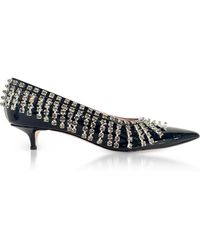 Christopher Kane - Crystal-embellished Patent-leather Court Shoes - Lyst
