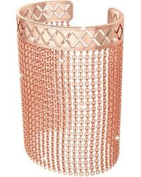 Rebecca - Melrose Rose Gold Over Bronze Mesh Bracelet - Lyst