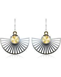 Vojd Studios - Phase Precious Sterling Silver Fan Dangle Earrings - Lyst