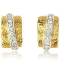 Torrini - Nancy - 18k Yellow Gold And Diamond Earrings - Lyst