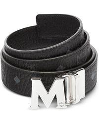 MCM - Black Visetos Claus M Reversible Belt - Lyst