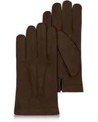 e48459d4f98188 FORZIERI - Herren Handschuhe aus Kaschmir und italienischem Kalbsleder in  dunkelbraun - Lyst