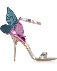 Sophia Webster - Silver Mirror Leather High Heel Chiara Sandals - Lyst