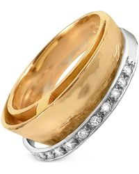 Torrini - Tama - Diamond Channel 18k Yellow Gold Band Ring - Lyst
