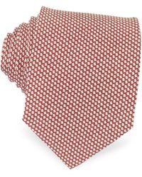 FORZIERI - Bicolor Woven Silk Tie - Lyst