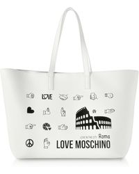 Love Moschino - Printed City Lovers Tote Bag - Lyst
