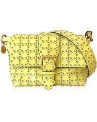 c0a085bf25 Tod's Flower Mini Patent-Leather Cross-Body Bag in Natural - Lyst