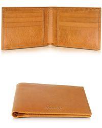 Pineider - Country Cognac Leather Billfold Wallet - Lyst
