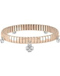Nomination - Rose Gold Pvd Stainless Steel Women's Bracelet W/charms And Cubic Zirconia - Lyst