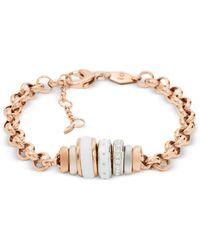 Fossil - Classics Rose Gold Women's Bracelet - Lyst