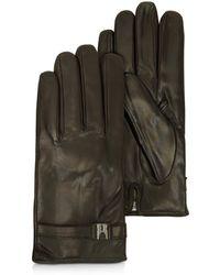 Moreschi - Alaska Dark Brown Leather Men's Gloves W/cashmere Lining - Lyst