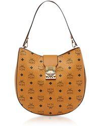 MCM - Patricia Visetos Cognac Medium Hobo Bag - Lyst
