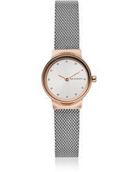 Skagen - Freja Two-tone Steel-mesh Women's Watch - Lyst