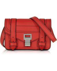 Proenza Schouler - Ps1+ Cardinal Grainy Leather Mini Crossbody Bag - Lyst