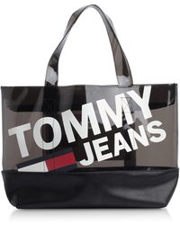 Tommy Hilfiger - Translucent Logo Print Tote - Lyst