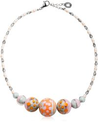 Antica Murrina | Papaya 2 Orange Pastel Murano Glass Choker | Lyst
