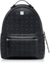 MCM - Black/cognac Visetos Stark Backpack - Lyst