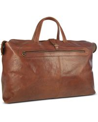 Robe Di Firenze - Large Brown Italian Leather Carry All Travel Bag - Lyst