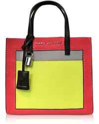 Marc Jacobs - Grainy Leather The Mini Grind Colorblocked Tote Bag - Lyst