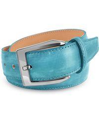 Pakerson - Men's Sky Blue Hand Painted Italian Leather Belt - Lyst