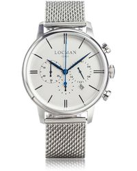LOCMAN - 1960 Silver Stainless Steel Men's Chronograph Watch - Lyst