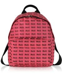 8f02766d609 McQ - Neon Pink Metal Repeat Logo Backpack - Lyst